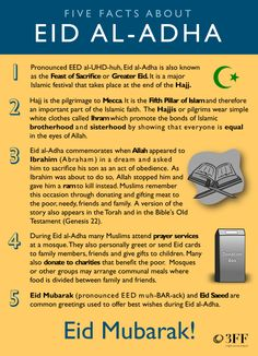 Eid Mubarak! Infographic: Five important facts about Eid al-Adha.
