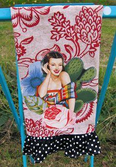 vintage mexican tea towel
