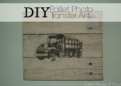 DIY Pallet Photo Transfer Art