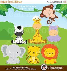 Animales de la Selva Bebes para uso personal y por ClipArtopia
