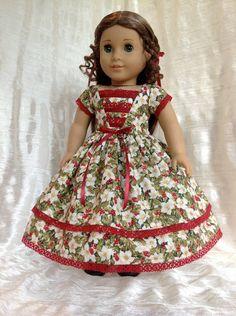 RESERVED 1850 Christmas dress for Marie-Grace. $69.00, via Etsy.