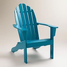 One of my favorite discoveries at WorldMarket.com: Mykonos Blue Classic Adirondack Chair
