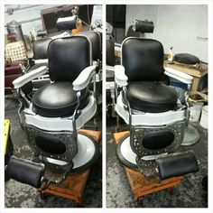 $$$AVAIL CHAIRS$$$$$ : ) Antique Barber Chair Restoration Metal Finishes  Nickel And Chrome Plating, Sand Blasting, Porcelain Refinishing Or Your  Choice True ...