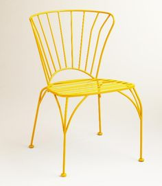 Some antique shopping sites sell authentic French wire furniture, but the price tag can cause severe sticker shock. Check out World Market's cadiz chairs for a more affordable, yet just as stylish, version. Plus, the sunny yellow is fun twist on the theme.  - GoodHousekeeping.com