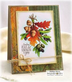 Peace and Strength: Olive and Oak: #Power Poppy Digital stamp and #Copic Markers. Stepped out coloring is here: http://debbiedesigns.typepad.com/muse_and_amuse/2015/09/peace-and-strength-olive-and-oak.html