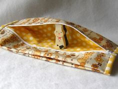 Wet wipe and diaper case - made with Kawaii Laminated Japanese Linen. #handmade #sewing #fabric #baby