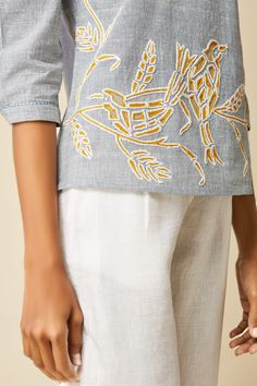 Embroidered Off Shoulder Top | Grassroot By Anita Dongre