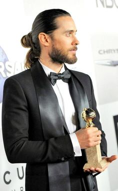 Jared Leto, loving up on the man bun.