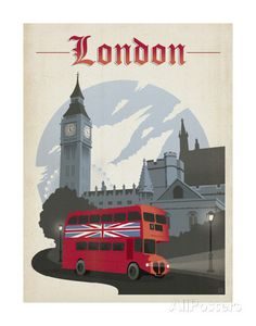 London Poster by Anderson Design Group  Loved London, Bath, and Salisbury, actually saw an original copy of Magna Carte.