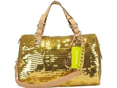 Michael Kors Grayson Glitter Satchel Golden
