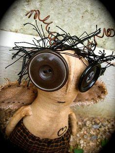 Baaaah! Bernard  primitive art doll BUG by raggedraven on Etsy