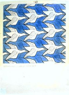 Two Birds, 1938 Style: Op Art Genre: tessellation Escher Tessellations, Tessellation Art, Op Art, Escher Kunst, Mc Escher Art, Tesselations, Quilt Modernen, Two Birds, Art Graphique