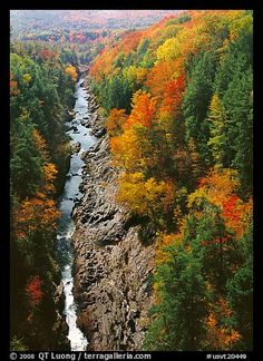 Quechee Gorge and river in the fall. Vermont, New England, USA.  This is one of the New England excursions that I really miss.