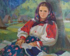 """Андрій Коцка, Україна """"Жінка з Колочави"""", 1958 рік / Andriy Kotska, Ukraine """"Woman with Kolochava"""" 1958"""