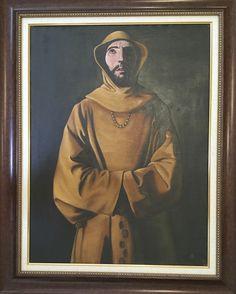 """Eduardo Garaicoa #2186. From the series: """"Orula,"""" 1995. Oil on canvas, framed. 31.5 x 23.5 inches, - Center for Cuban Studies"""