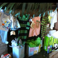 Baby shower clothes line