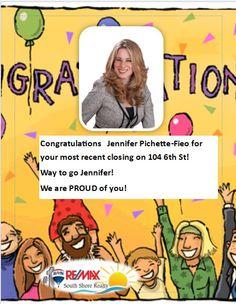 Congrats Jennifer Pichette-Fieo!