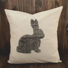 The Bunny 16 x 16 Pillow Cover housewarming by ParrisChicBoutique