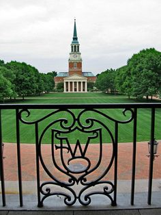 Wait Chapel and quadrangle, Wake Forest University, Winston-Salem, NC