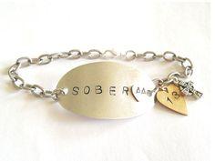 Custom 12 Step Recovery Bracelet Sober AA by SunshineBlissStudio, $15.00