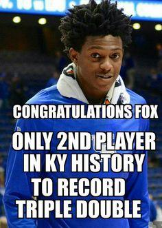 Congratulations De'Aaron! 14 points 11 rebounds 10 assists