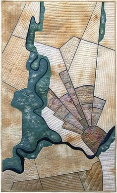Europe Meets Asia map art quilt by Barbara Woods Map Quilt, Asia Map, Map Projects, Creation Art, Landscape Quilts, Contemporary Quilts, Learn Art, Textiles, Cartography