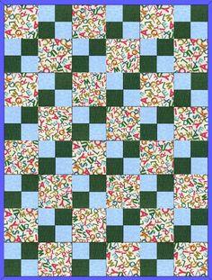 Alphabet Blue Pre-Cut Quilt Blocks Kit from Quilt Kit Shop