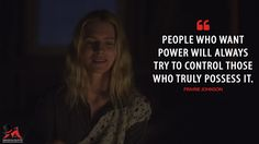 Prairie Johnson: People who want power will always try to control those who truly possess it.  More on: http://www.magicalquote.com/series/the-oa/ #PrairieJohnson #TheOA
