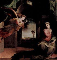 Domenico Beccafumi (Domenico di Jacopo di Pace, detto il Beccafumi) (1486-1551), Annunciazione, 1545-1546, Chiesa di San Martino in Foro, Sarteano (Siena, Toscana )