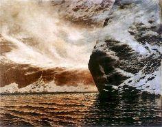 Black Lake - blizzard by Stanisław Witkiewicz (Polish,1851–1915)