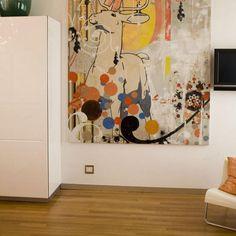 large image on wall