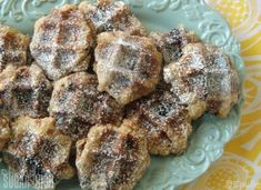 Sweet Chocolate Chip Waffle Cookies - Oh My! Waffle Iron Cookies, Cookie Recipes, Dessert Recipes, Dessert Ideas, Waffle Maker Recipes, Foods With Iron, Chocolate Waffles, Food Porn, Kitchens
