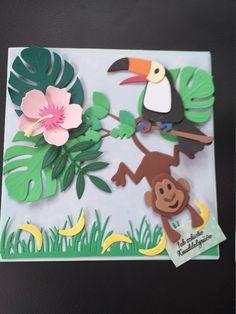 """Glückwunschkarte für verschiedene Anlässe """" ich schicke Knuddelgrüße"""" Diy And Crafts, Crafts For Kids, Paper Crafts, Toucan Craft, Elizabeth Craft Designs, Collectible Cards, Tropical Art, Bird Cards, Marianne Design"""