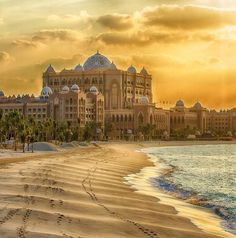 Abu Dhab Emirate's Palace. The 22 hours of travel time almost seem worth it…
