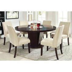 Furniture of America Vessice Round Pedestal Dining Table - Espresso - IDF-3556T