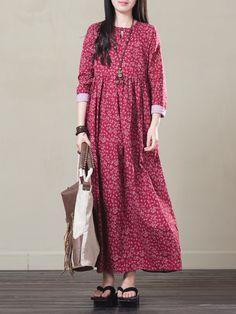 Women Pure Color Buttons Vintage Shirt Mini Dresses Online - NewChic Mobile