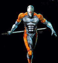 Metal Gear Solid Gray Fox Cyborg Metal Gear art