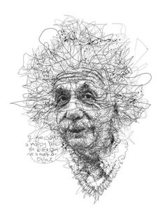 Drawing Portraits - Oeuvre by Vince Low - Célébrité Albert Einstein Discover The Secrets Of Drawing Realistic Pencil Portraits.Let Me Show You How You Too Can Draw Realistic Pencil Portraits With My Truly Step-by-Step Guide. Line Drawing, Drawing Sketches, Pencil Drawings, Painting & Drawing, Art Drawings, Drawing Portraits, Stylo Art, Scribble Art, Ghost In The Machine