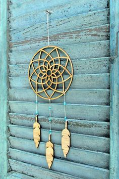 dream catcher Mobile feather mobile modern by wingedwhimsy