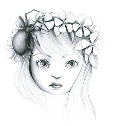 """Illustration Emmanuelle Colin """"La Fiancée au beurre salée"""""""