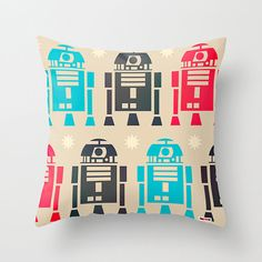 Star Wars Pillow Cover R2D2 Decorative throw Pillow Cover Christmas Gift ideas on Etsy, $61.58 CAD