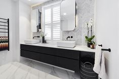 Kerrie and spence's master ensuite won last week's room reveals, with a score of Bad Inspiration, Bathroom Inspiration, Bathroom Ideas, Carrara, Ensuite Bathrooms, Basement Bathroom, Bathroom Vanities, Room Tiles, Bathroom Interior Design