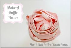 With a little fabric and some stitching, you'll have an adorable flower hair accessory!