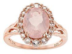 Pink Topaz Ring, Rose Quartz Ring, Rose Quartz Crystal, Pink Quartz, Crystal Engagement Rings, Quartz Engagement Ring, Rose Gold Pink, 18k Rose Gold, Quartz Jewelry