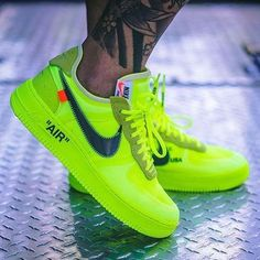 sneakers Nike Off White Air Force 1 Volt Women's Work Jeans By Dickies Th Off White Shoes, White Sneakers, Sneakers Nike, White Air Force 1, Nike Airforce 1, Nike Af1, Hype Shoes, Jordan 1, Dream Shoes