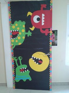 Monsters door deco!                                                                                                                                                     More