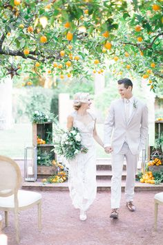 ceremony recessional - photo by Andrew Jade Photography http://ruffledblog.com/scottsdale-wedding-inspiration-with-citrus
