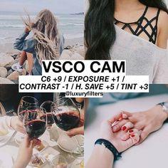 VSCO Cam Filter Settings for Instagram Photos | Orange Filter C6