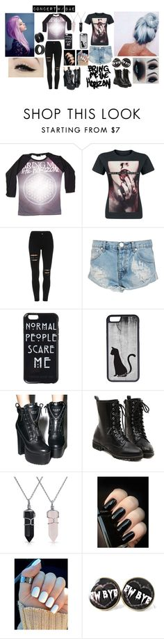 """""""BMTH CONCERT W/BAE"""" by lillybearrawrr on Polyvore featuring CO, One Teaspoon, Anatomy Of, CellPowerCases, Current Mood, Bling Jewelry and NOVICA"""