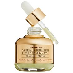 KORRES — Golden Krocus Ageless Saffron Elixir Serum | A precious golden elixir infused with the immense antioxidant power of one-day fresh Greek saffron to universally correct all visible signs of aging.